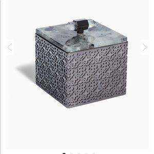Kendra Scott Square Filigree Box In Labradorite
